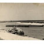 Пристань, 1960-1970 г.г., г. Петриков, БССР, река Припять, из собрания Петра Галоты,  (6retro)