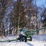 Дивизионная  76-мм пушка ЗИС-3, парк г. Петрикова, Беларусь,(free images (CC0))(16retro)