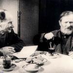 Встреча Деда Талаша с Якубом Колосом, январь 1943 года г. Москва (27retro)
