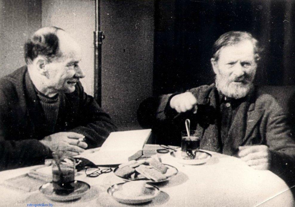 фото Встреча Деда Талаша с Якубом Колосом,