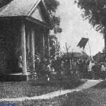 Процессия вокруг костела в Копаткевичах, 1910 год, Копаткевичи, Российская Империя (32retro)