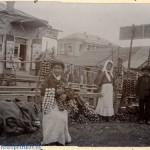 Коллекция Исаака Сербава 1911-12 годов, ярмарка в Петрикове торговля чесноком и луком, Петриков, Российская Империя (37retro)