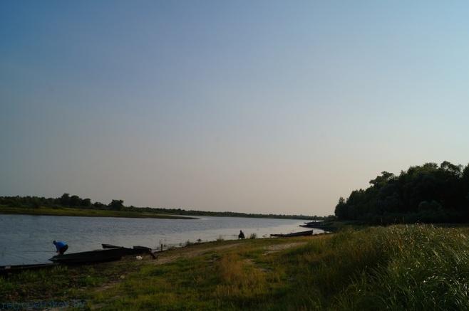 вечерняя рыбалка в Петрикове