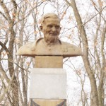 Памятник Деду Талашу, парк г. Петрикова (57retro)