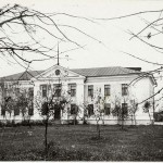 Фото Петриков 60-е, яблоневый сад пред райкомом, ул. Гагарина  (70retro)