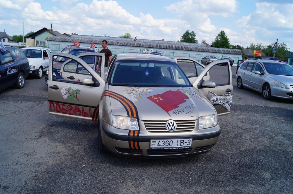 Автопробег 9 мая 2016 года в Петрикове (87retro)