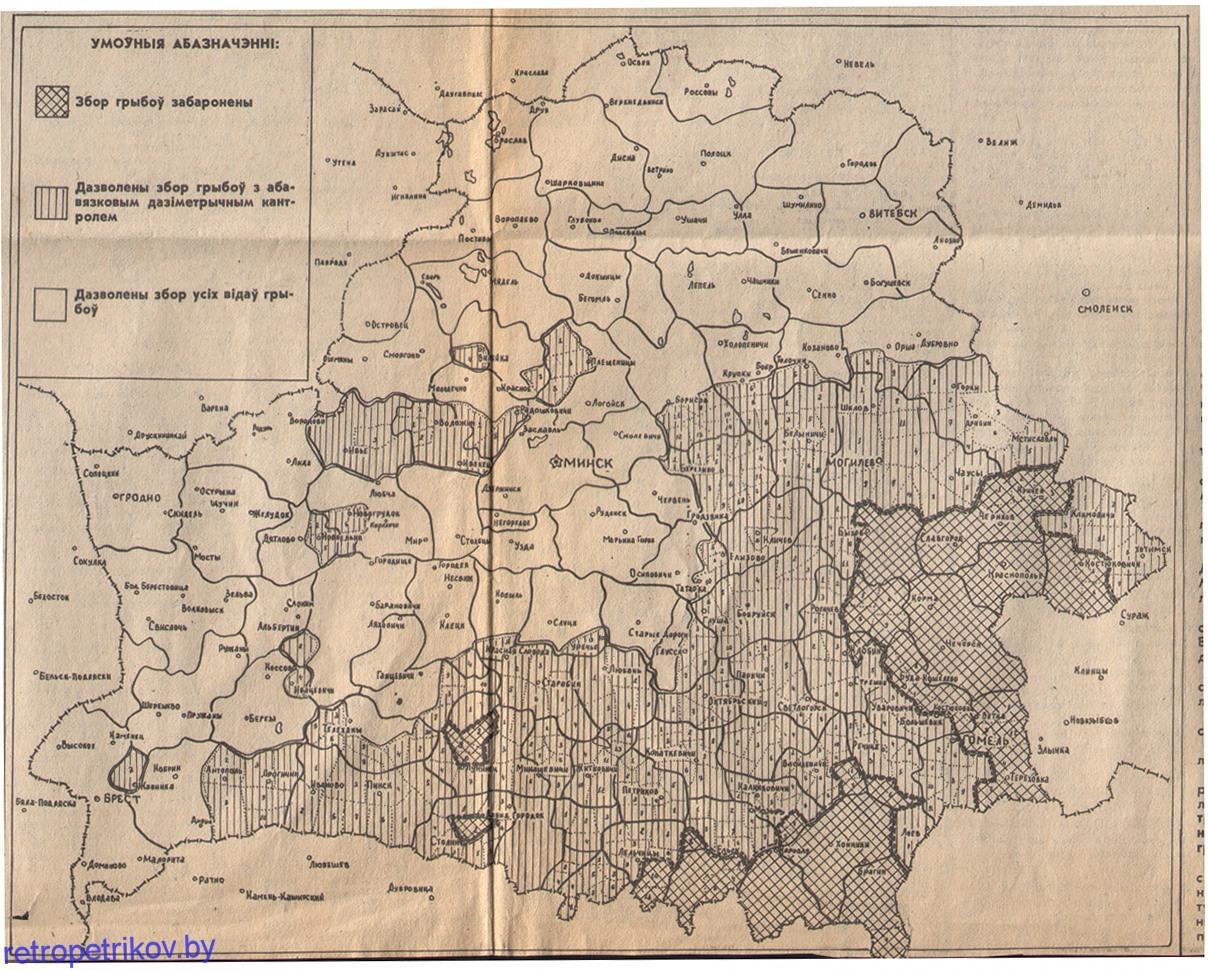 карта сбора грибов