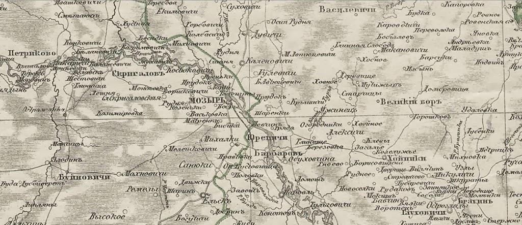 старинная карта Петрикова
