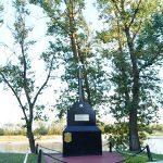 Памятник жертвам фашизма на берегу Припяти в Петрикове (145 retro)