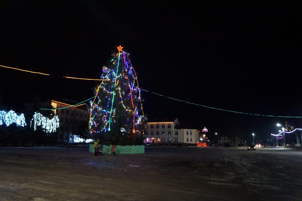 Новогодняя елка в Петрикове