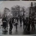 Лыжники и баскетболисты на Октябрьской демонстрации (156 reteo)