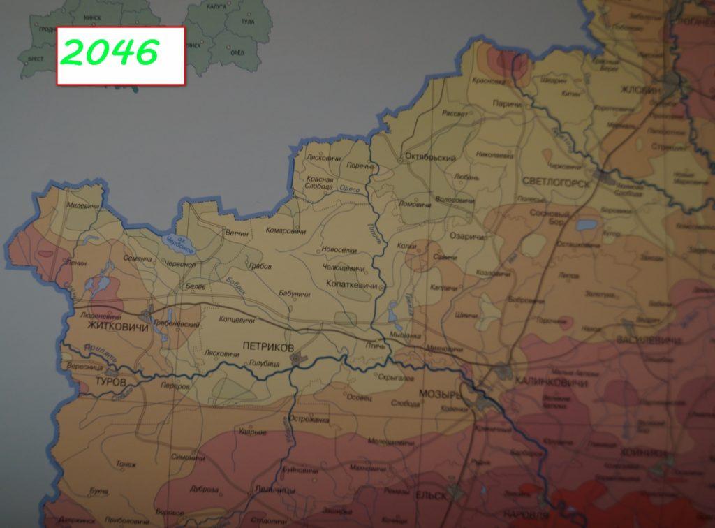 фото карта загрязнения цезием 137 в 2036 г.