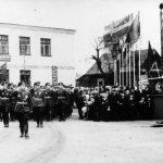 Парад  7 ноября 1967 г., 50-лет Великой Октябрьской Социалистической  Революции,  г. Петриков, БССР (10retro)