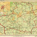 Полесская область и зона государственных интересов Германии на карте БССР 1941 года (112retro)